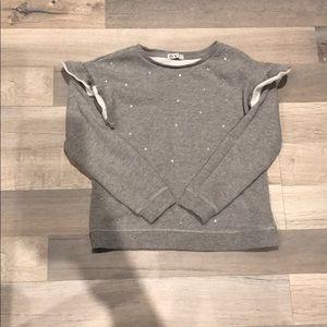 Girls ruffle sleeve sweater